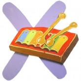 Lettre en bois X comme xylophone