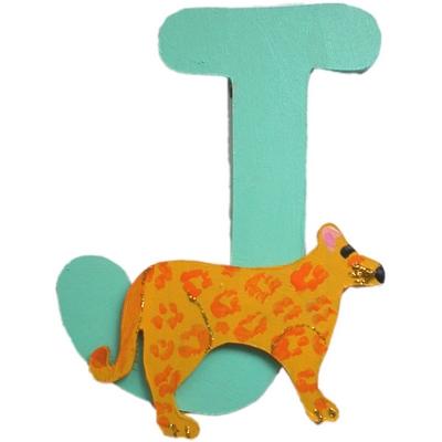 lettre alphabet en bois j d cor e avec un jaguar lettre bois. Black Bedroom Furniture Sets. Home Design Ideas
